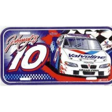 Johnny Benson #10 Nascar Plastic License Plate