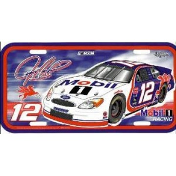 Jeremy Mayfield #12 Nascar Plastic License Plate
