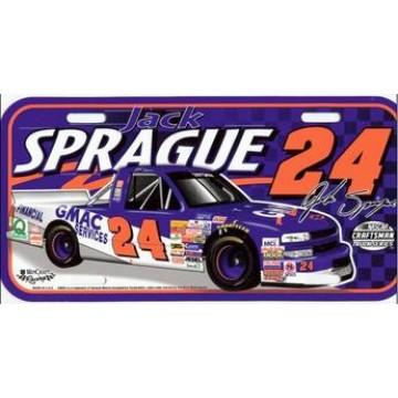 Jack Sprague #24 Craftsman Truck Plastic License Plate