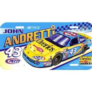 John Andretti #43 Nascar Plastic License Plate