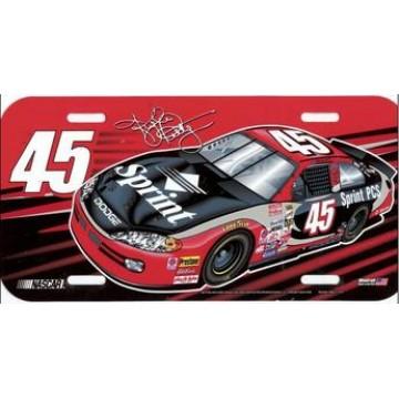 Kyle Petty #45 Nascar Plastic License Plate