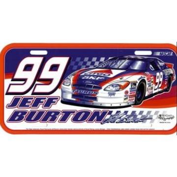 Jeff Burton #99 Nascar Plastic License Plate