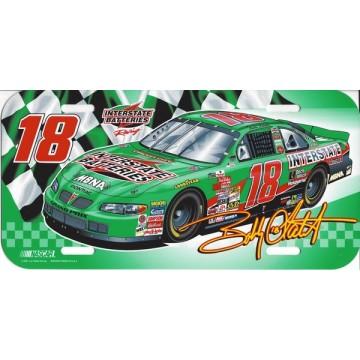 Bobby Labonte #18 Nascar Plastic License Plate