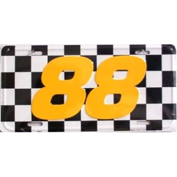 Nascar Racing #88 Metal License Plate