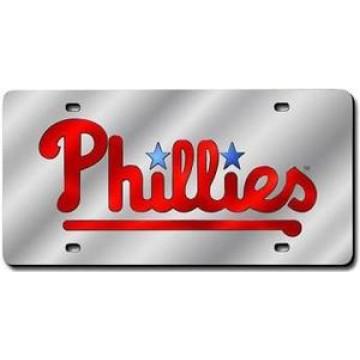 Philadelphia Phillies Silver Laser License Plate