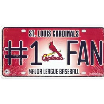 St. Louis Cardinals #1 Fan License Plate