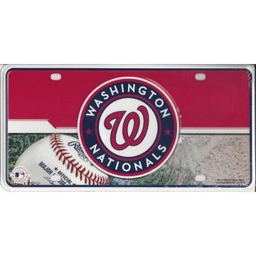 Washington Nationals Metal License Plate