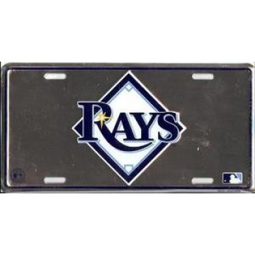 Tampa Bay Rays Anodized License Plate