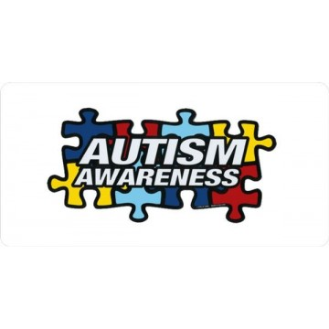 Autism Awareness Photo License Plate