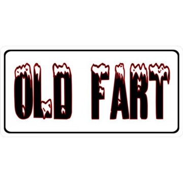 Old Fart Photo License Plate