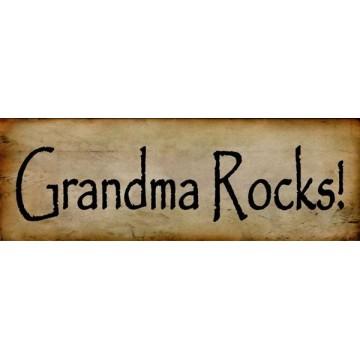 Grandma Rocks Half Photo License Plate