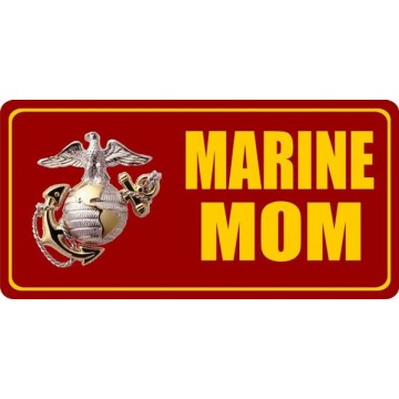 Marine Mom Photo License Plate