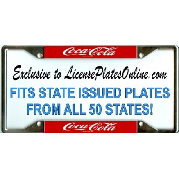 Coca-Cola (Coke) EVERY STATE Chrome License Plate Frame