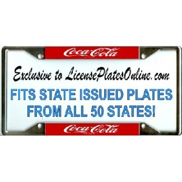 Coca-Cola (Coke) EVERY STATE Chrome License Plate Frame