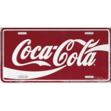 Coca-Cola Metal License Plate