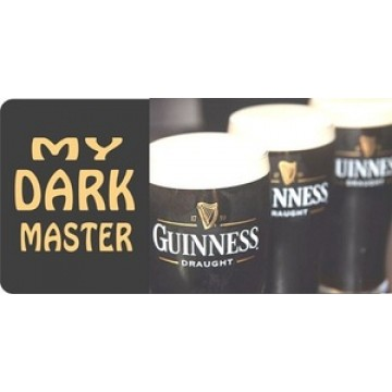 Guinness Dark Master Photo License Plate