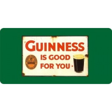 Guinness Is Good For You Photo License Plate
