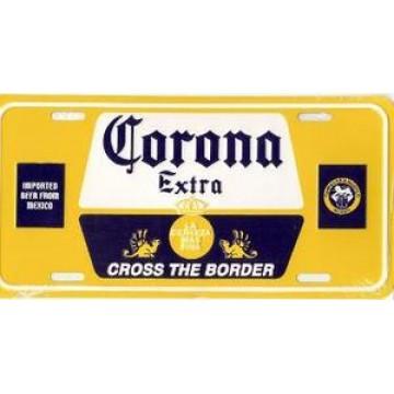 Corona Imported Beer Metal License Plate