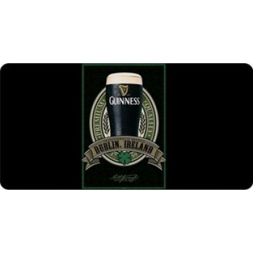 Guinness Dark Lager Beer Photo License Plate