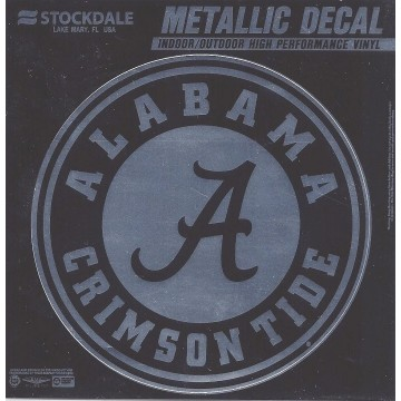 Alabama Crimson Tide Chrome Vinyl Decal