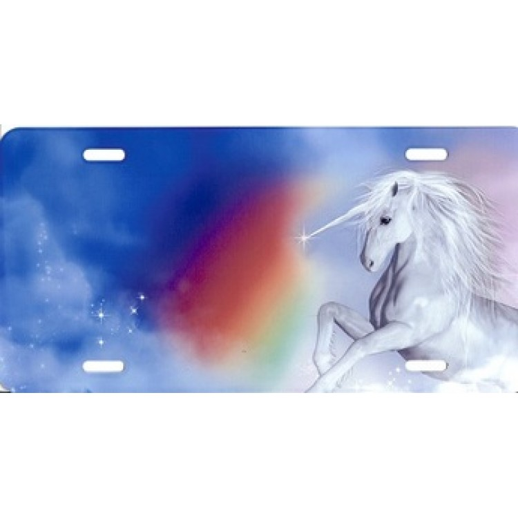 Unicorn Offset License Plate