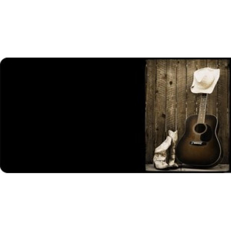 Boots, Guitar And Hat Photo License Plate