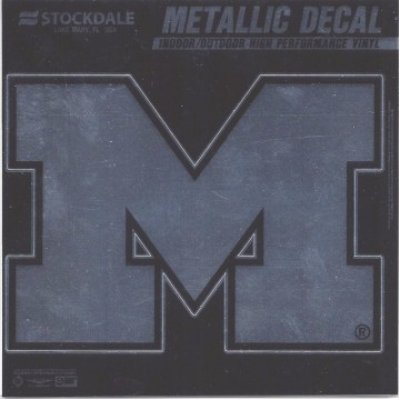 Michigan Wolverines Chrome Vinyl Decal