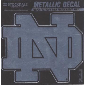 Notre Dame Chrome Vinyl Decal