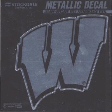Wisconsin Badgers Chrome Vinyl Decal