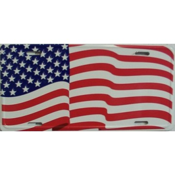 America Flag License Plate