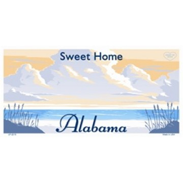 Alabama State Blank License Plate