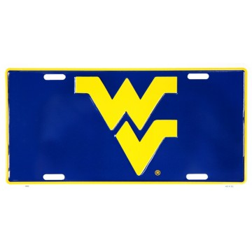 West Virginia Mountaineers Metal License Plate
