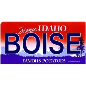 Idaho Boise Photo License Plate