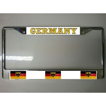German Flag Chrome License Plate Frame