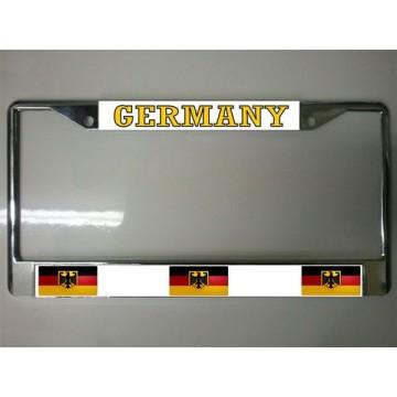 German Flag Chrome License Plate Frame