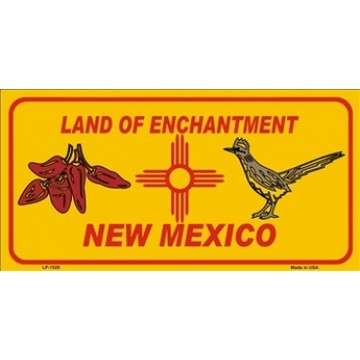 New Mexico Land Of Enchantment Metal License Plate