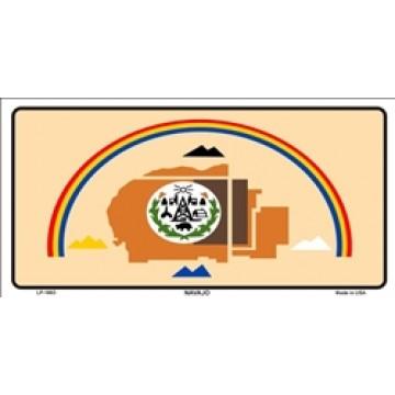 Navajo Flag Metal License Plate