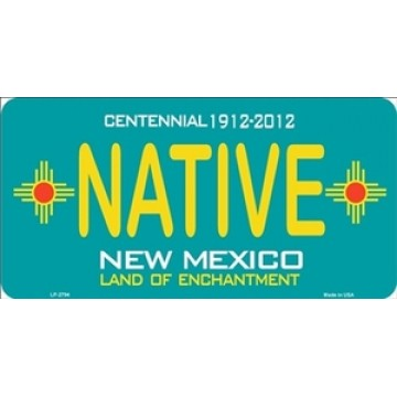 New Mexico Centennial Native Metal License Plate