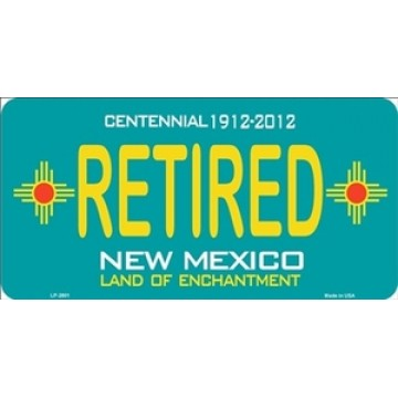 New Mexico Centennial Retired Metal License Plate