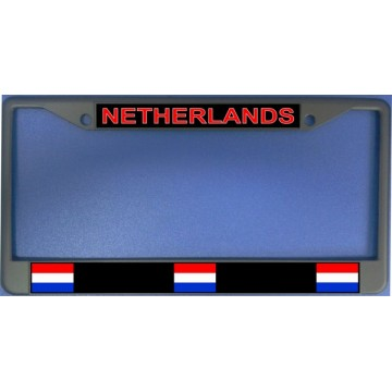 Netherlands Flag Chrome License Plate Frame