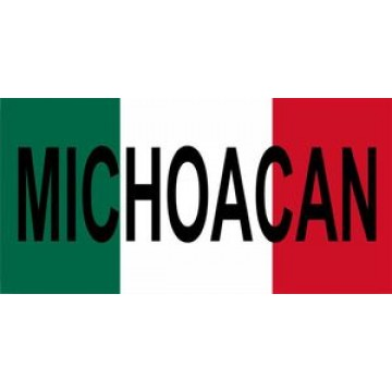 Mexico Michoacan Photo License Plate