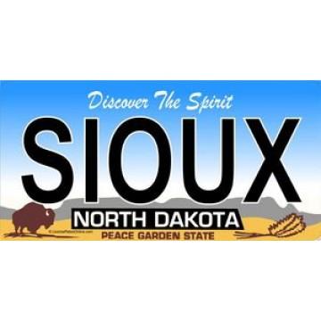 North Dakota Sioux Photo License Plate