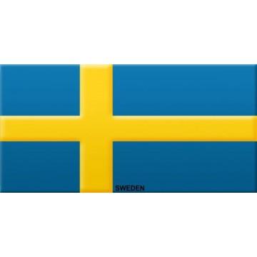 Sweden Flag Photo License Plate