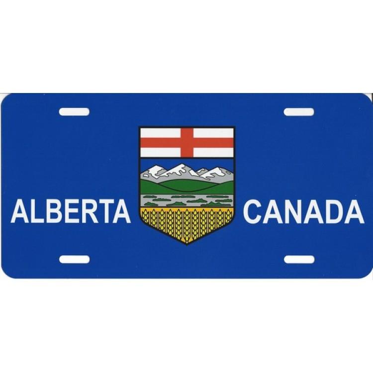 Alberta Canada Flag Photo License Plate