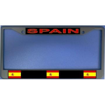 Spain Flag Chrome License Plate Frame