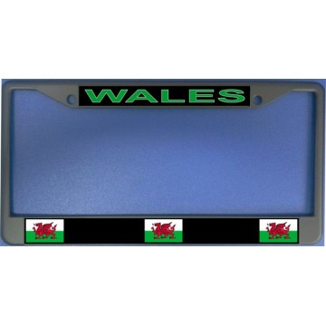 Wales Flag Chrome License Plate Frame