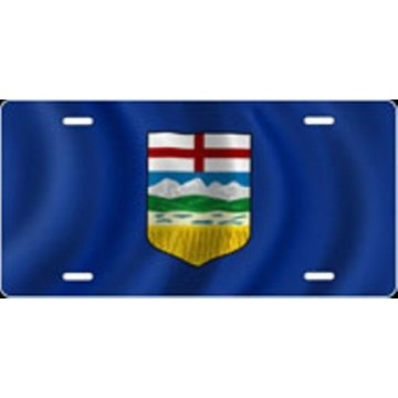 Alberta Flag Airbrush License Plate