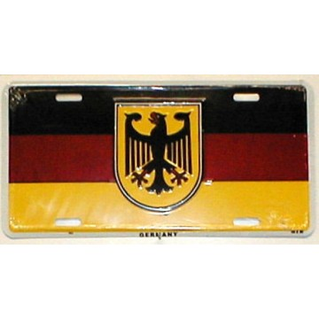 Germany Flag With Eagle Metal License Plate