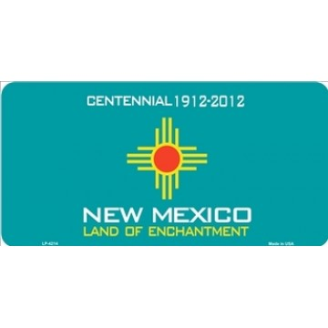 New Mexico Centennial Metal License Plate