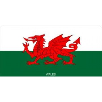 Wales Flag Photo License Plate